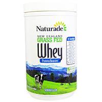 Naturade, Белковый ускоритель из сывороточного белка из молока новозеландских коров, питающихся травой, ваниль, 16,1 унции (456 г)