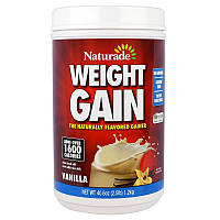 Naturade, Средство для набора веса Weight Gain, со вкусом ванили, 40,6 унций (2,5 фунта)