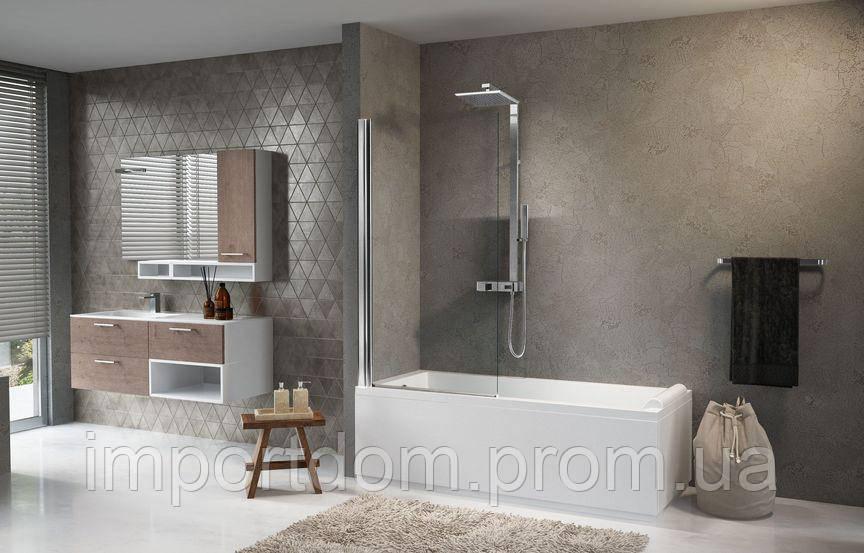 Стеклянная шторка для ванны Novellini Aurora 120x150