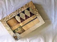 """Набор махровых полотенец """"Ромбик"""" в подарочной упаковке"""