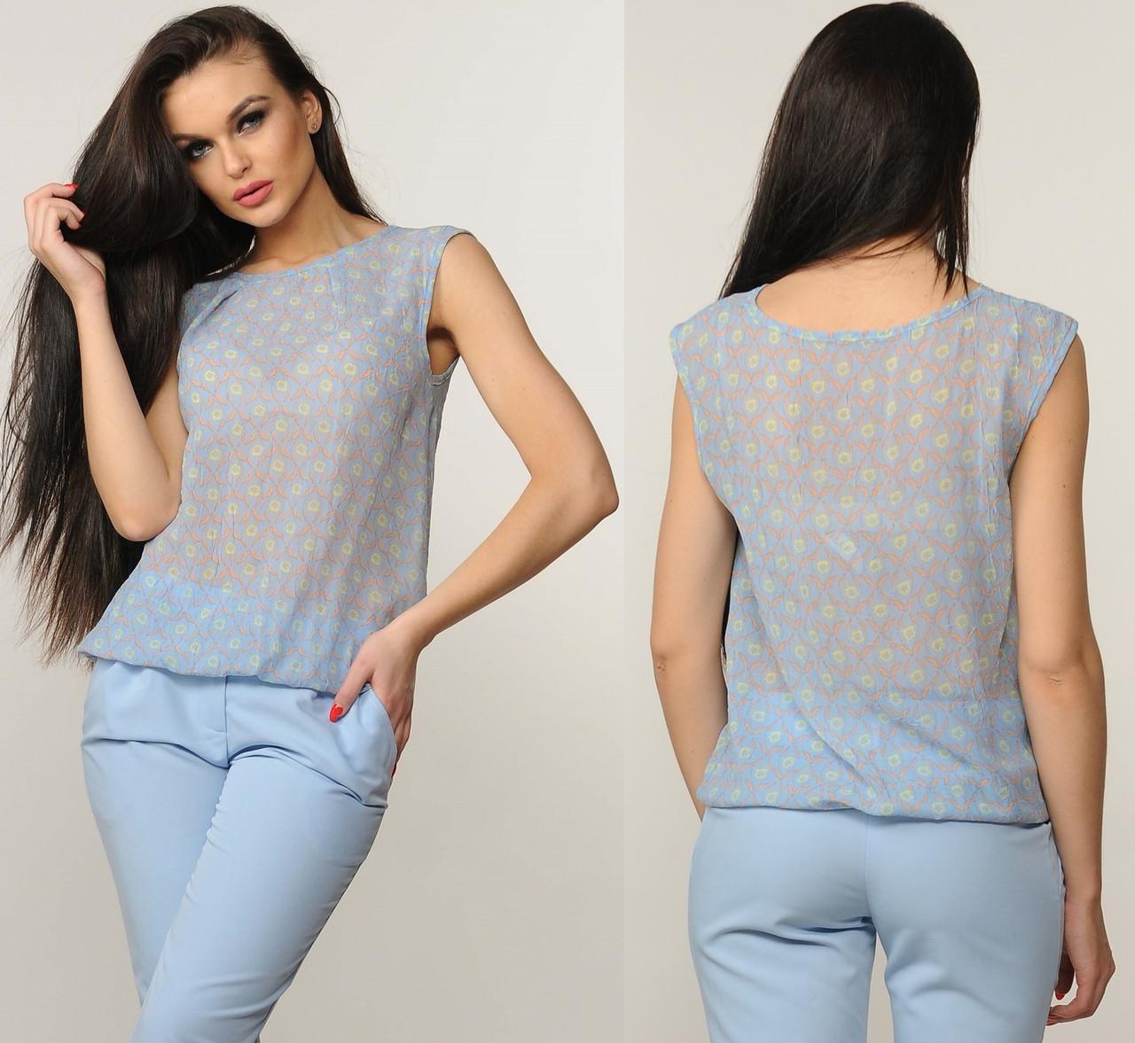 864fa1d68a3 Блузка женская шифоновая нарядная блуза трикотажная летняя - Интернет  магазин Sport-sila.com.