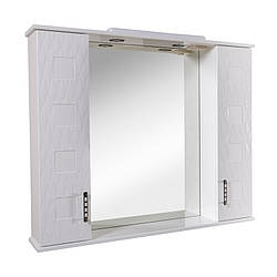 Зеркало с подсветкой Aqua Rodos Ассоль 100 см с двумя пеналами