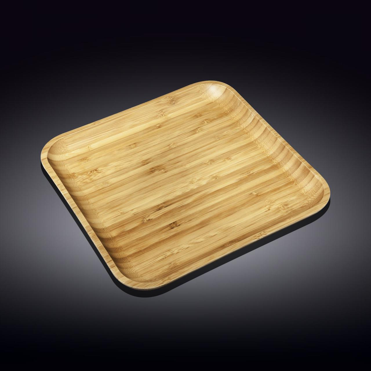 Тарелка бамбуковая Wilmax Bamboo 17,5х17,5 см WL-771020