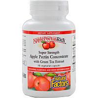 Яблочный пектин, Natural Factors, Концентрат, 90 капсул