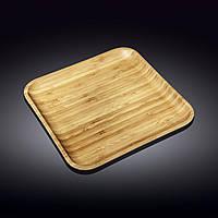 Тарелка бамбуковая Wilmax Bamboo 28х28 см WL-771024