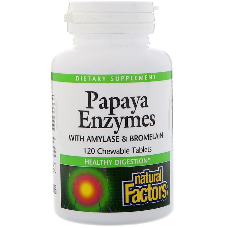 Ферменты для пищеварения, Natural Factors, 120 таблеток
