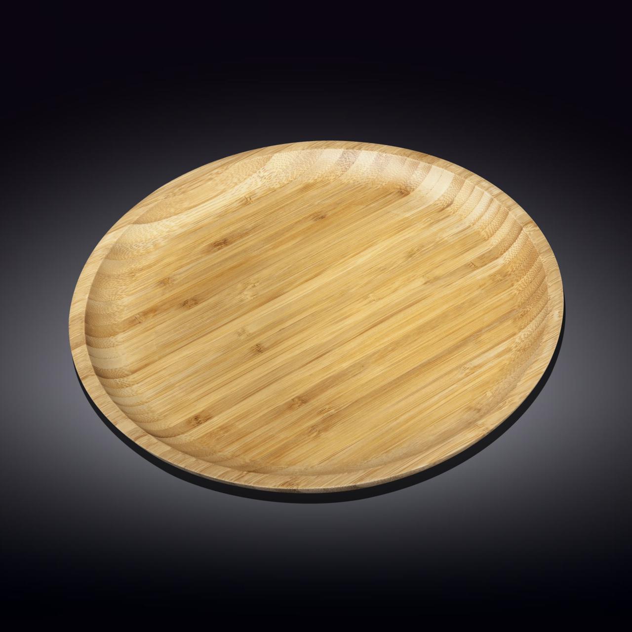 Тарелка бамбуковая Wilmax Bamboo 20,5 см WL-771032