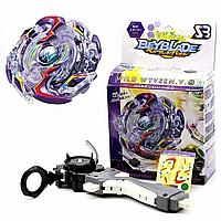 Bey Blade defence  (защитный) Бейблэйд фиолетовый: Волчок с пусковым устройством