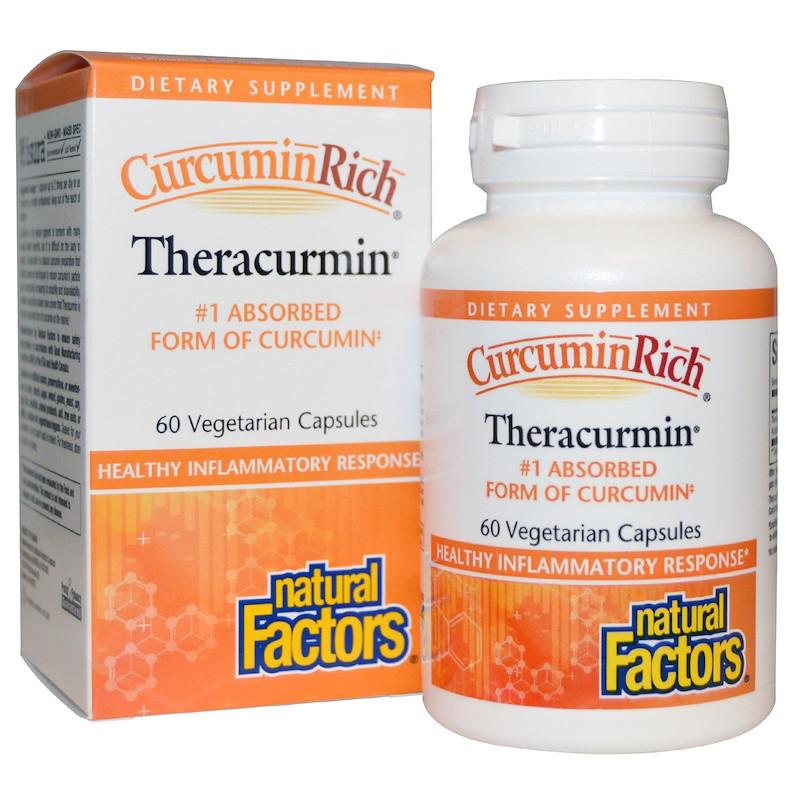 Куркумин, Natural Factors, 30 мг, 60 капсул