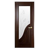 Межкомнатная дверь Новый стиль Амата ПВХ делюкс 800мм каштан рисунок Р2