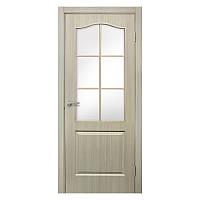 Межкомнатная дверь Омис Классика со стеклом 900мм дуб беленый