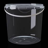 Ведро пластиковое прозрачное 3л