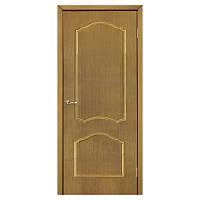 Межкомнатная дверь шпон Омис Каролина 600мм глухая дуб