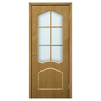 Межкомнатная дверь шпон Омис Каролина 700мм под стекло дуб