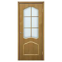 Межкомнатная дверь шпон Омис Каролина 900мм под стекло дуб