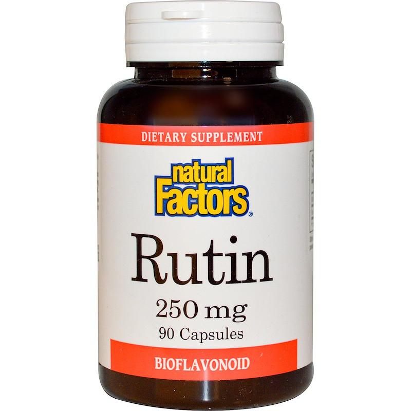 Рутин, Natural Factors, Rutin, 250 мг, 90 кап.