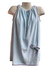 Полотенце Халат 140*80 см голубой