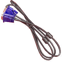 Компьютерный Кабель Lesko VGA-VGA v2 1,5 м для монитора флетрона компьютера ноутбука телевизора плазмы LED