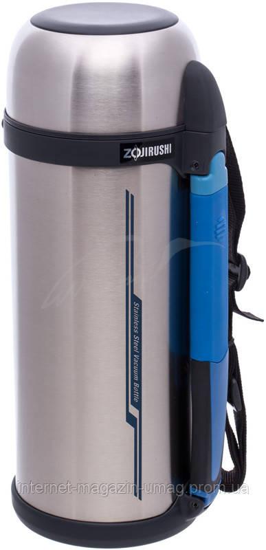 Термос Zojirushi SF-CС18XA 1.8 л (складная ручка+ремешок) цвет стальной