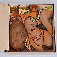 Подарочный набор (игрушка, кокос, набор орехов). Оригинальный подарок другу, женщине, подруге, девушке, маме