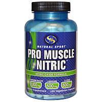 Natural Sport, Оксид Азота для Мышц, Формула с оксидом азота, 120 вегетарианских капсул