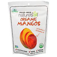 Сушеные манго, Freeze-Dried Organic Mango, Nature's All, 42,5 г