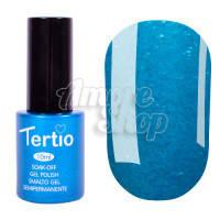 Гель-лак Tertio №077 (насыщенный ярко-синий, микроблеск), 10 мл