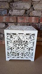 Дерев'яну скриньку для конвертів на весіллі, грошова скарбниця