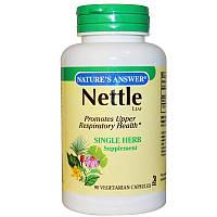 Листья Крапивы, Nettle Leaf, Nature's Answer, 90 капсул