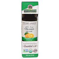 Апельсиновое масло органик (Orange), Nature's Answer, 15 мл