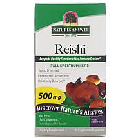 Лечебные грибы рейши (Reishi), Nature's Answer, 90 кап.