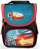 Рюкзак шкільний каркасний Smile Sport Car синій ранець 974806
