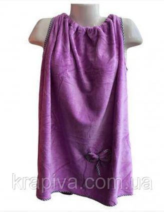 Полотенце Халат 140*80 см фиолетовый