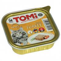 TOMi turkey ИНДЕЙКА консервы для кошек, паштет 100гр