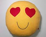 Мягкая игрушка-подушка ручной работы Смайлик (глазки-сердечки), фото 4