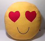 Мягкая игрушка-подушка ручной работы Смайлик (глазки-сердечки), фото 3