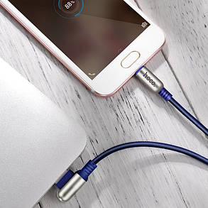 HOCO 2.4A 1.2M цинковый сплав 90 градусов Micro USB Data Sync Телефонный кабель для Samsung Xiaomi Huawei 1TopShop, фото 2
