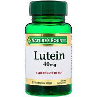 Лютеин (Lutein), Nature's Bounty, 40 мг, 30 капсул