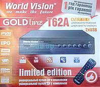 T62A WorldVision и 2dbi WIFI адаптер, тюнер приставка Т2, 32 канала, интернет сервисы - комплект