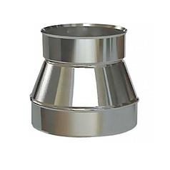 Переходник с меньшого диаметра на трубу D-100 мм, толщ. - 0,5 мм для дымохода из нержавейки «Версия Люкс»