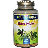 Nature's Herbs, Китайская горькая тыква, 100 капсул