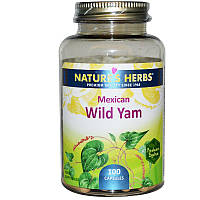 Дикий ямс, Wild Yam, Nature's Herbs, 100 капсул