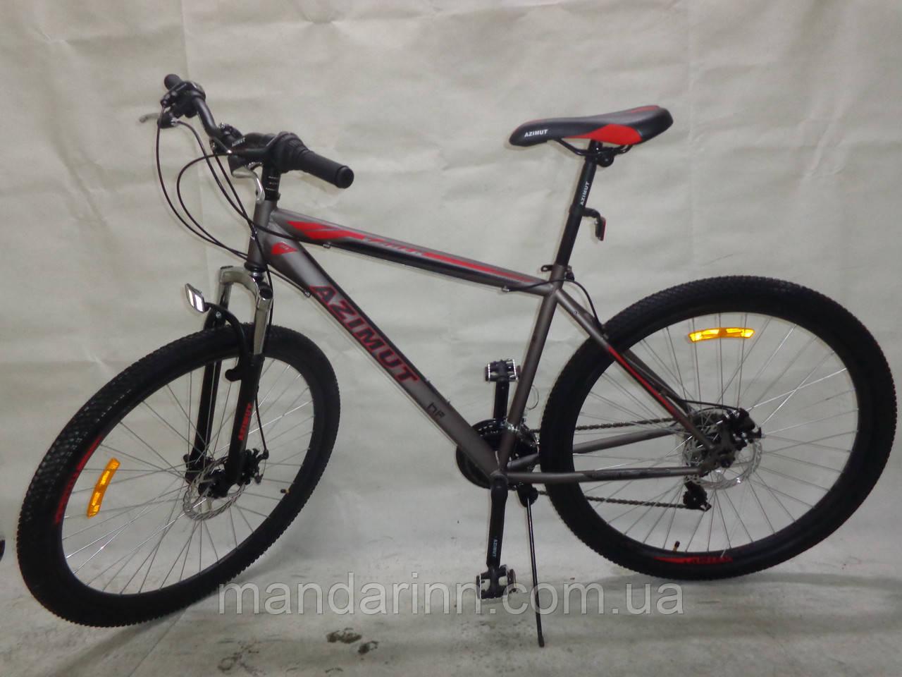 Горный велосипед 26 дюймов Azimut Vader. Дисковые тормоза. Серый