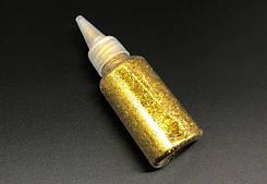 Глиттер золотой (декоративные блёстки ) 25 гр