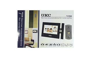 """Домофон UKC JS 715 цветной видеодомофон 7"""" дисплей / с записью посетителей / комплект с вызывной"""