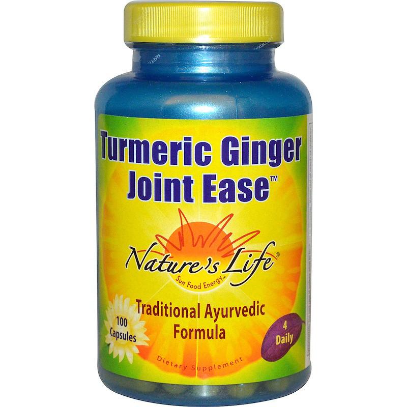 Корень имбиря (Turmeric Ginger Joint Ease), Nature's Life, 100 капсул