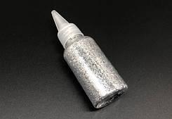 Глиттер серебро (декоративные блёстки ) 25 гр