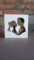 Рамка сосуд  для свадебной песочной церемонии. Молодожены