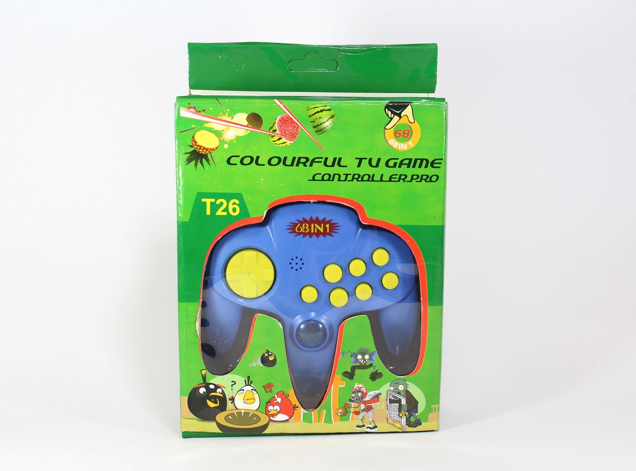 Джостик - електронная игра / GAME T26 игровая приставка 68 в 1 GAME T26