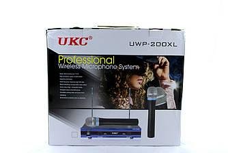 Микрофон беспроводной UKC DM UWP-200 XL / профессиональный / База + 2 микрофона